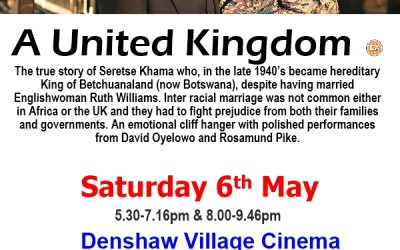 Denshaw Village Cinema: May to August Programme